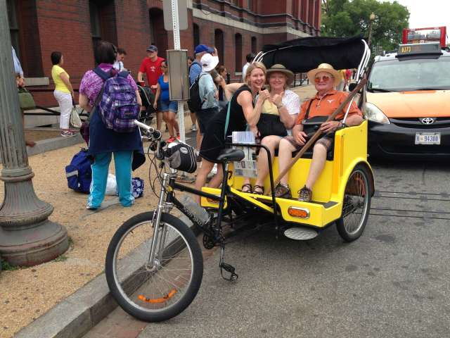 Happy Aussies on My Pedicab