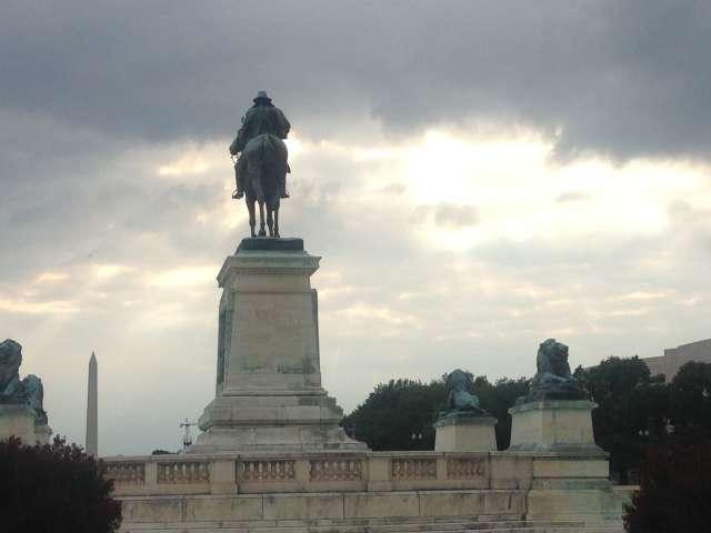 Ulysses S. Grant Memorial at sunset — Washington, DC