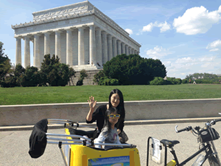 See DC -- Pedicab Tour at the Lincoln Memorial